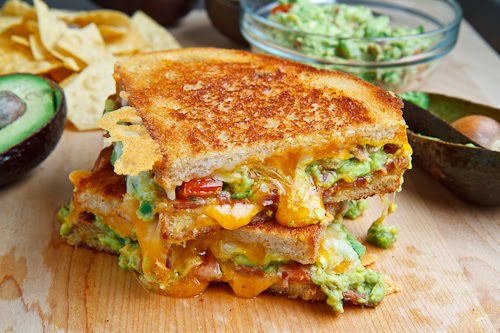 buttery and toasty grilled cheese sandwich stuffed with cool and